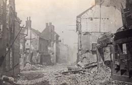 Somme Ham Rue De Chauny En Ruines WWI Ancienne Photo 1914-1918 - War, Military