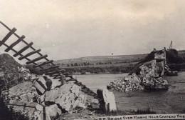 Chateau Thierry Ruines Du Pont De Chemin De Fer Sur La Marne WWI Ancienne Photo 1914-1918 - War, Military