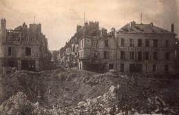 Chateau Thierry Ruines Du Pont Et De La Ville WWI Ancienne Photo 1918 - War, Military
