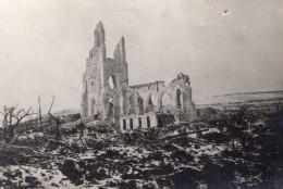 Pas De Calais Ablain-Saint-Nazaire Ruines De L'Eglise WWI Ancienne Photo 1914-1918 - War, Military