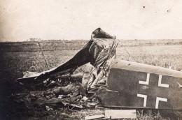Somme Avion Allemand Descendu Pres De Nesle Aviation WWI Ancienne Photo 1914-1918 - War, Military
