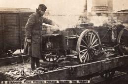 Cuisine De Campagne Au Depart Pour Le Front WWI Ancienne Photo 1914-1918 - War, Military