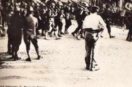 Meuse Demange Defile De L'Infanterie Americaine WWI Ancienne Photo 1918 - War, Military