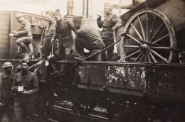 Cuisine De Campagne Distribution De La Soupe WWI Ancienne Photo 1914-1918 - War, Military