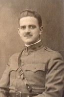 Portrait De Soldat Moustachu En Uniforme WWI Ancienne Photo 1914-1918 - War, Military