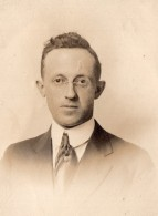 Portrait De Mr L.A. Chrisman Delaware Street Syracuse NY Ancienne Photo 1910's - War, Military