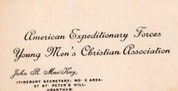 Carte De Visite John MacKay American Expeditionary Forces Grantham GB Vers 1910's - War, Military