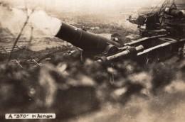 Canon 370 En Action Obusier? WWI Ancienne Photo 1914-1918 - War, Military