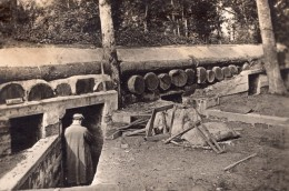 Oise Foret D'Ourscamp Poste De Secours Allemand WWI Ancienne Photo 1914-1918 - War, Military