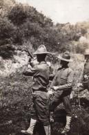 Soldats Americains? Entrainement Tir Au Pistolet WWI Ancienne Photo 1914-1918 - War, Military