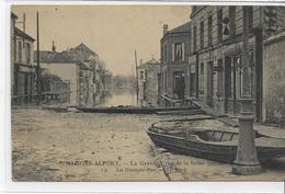 94 MAISONS-ALFORT . La Grande Crue De La Seine , Janvier 1910 , édit : N D Photo , écrite   , état Extra - Maisons Alfort