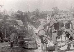 Soldats Et Canon De 220 WWI Ancienne Photo 1914-1918 - War, Military
