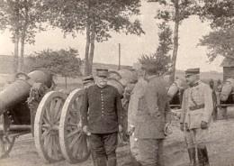 General Joffre Visite Un Parc D'Artillerie Sur La Somme WWI Ancienne Photo 1914-1918 - War, Military