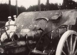 Prise De Courcy Marne Piece D'Artillerie WWI Ancienne Photo 1914-1918 - War, Military