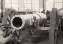 Atelier De Fabrication De Canons? Ouvrier WWI Ancienne Photo 1914-1918 - War, Military