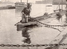 Sous Marin Reparations Ou Entretien? WWI Ancienne Photo 1914-1918 - War, Military
