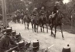 Cavalerie Et Fantassins Chevaux Fusils Baà°®nette WWI Ancienne Photo 1914-1918 - War, Military