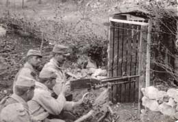 Mitrailleuse En Action Artillerie WWI Ancienne Photo 1914-1918 - War, Military