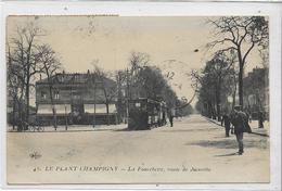 94 LE-PLANT-CHAMPIGNY . La Fourchette , Le Tramway Animé , édit : E L D , écrite En 1919  , état Extra - Champigny Sur Marne
