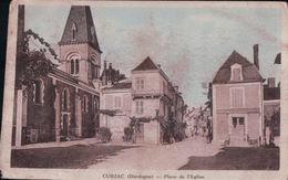CUBJAC Place De L'Eglise (1939) - Autres Communes