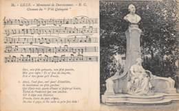 """59 - LILLE - Monument De Desrousseaux - Chanson Du """"P'tit Quinquin"""" - Lille"""