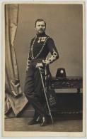 CDV Militaire 1860-70 G. Berthault à Angers . Capitaine Kerchener . Kerchner , Du 5e Régiment De Hussards ? - Ancianas (antes De 1900)