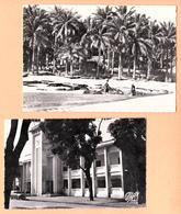 GUINEE FRANCAISE CONAKRY  ( LOT DE 2 CARTES ) PLAGE DE LA MINIERE ET LA MAIRIE - Guinée