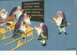 Carte Neuve  G F  19 X 11.5   De  Joyeux Noel  A L'Ecole - Noël