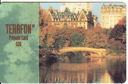 PUERTO RICO - Town & River, Terafon Prepaid Card $20, Exp.date 04/97, Used - Puerto Rico