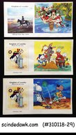 LESOTHO - SELECTED DISNEY / ANIMATION - FIRST DAY COVERS 3nos - Cinema
