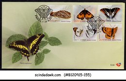 SOUTH AFRICA - 2013 BEAUTIFUL BUTTERFLIES & MOTH - 5V - FDC - FDC