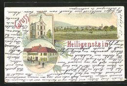 Lithographie Heiligenstein, Gasthaus Zum Sternen, Gemeindehaus - France