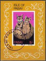 PABAY (Scozia) - 1969 - Foglietto Obliterato Non Dentellato Riproducente Tre Gatti Abissini. - Local Issues