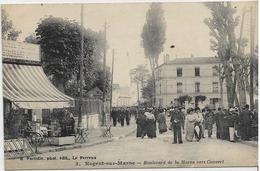 94 NOGENT-SUR-MARNE . Boulevard De La Marne Animé Vers Convert , Café , édit : E Faciolle  , Années 10 , état Extra - Nogent Sur Marne
