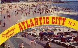 Greetings From Atlantic City N.j. - Formato Piccolo Viaggiata – E 8 - Postcards