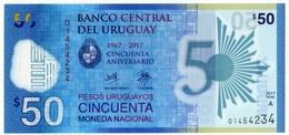 Uruguay $50 Primer Billete De Polímero - Uruguay