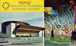 Montreal Canada Expo 67 - Pavillon Du Telephone Telephone Pavilion - Formato Piccolo Viaggiata – E 8 - Postcards
