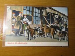 CARTOLINA TURCHIA  SALUT DE CONSTANTINOPLE 1909 ARRIVO MENAGGIO COMO    D - 2899 - Turchia