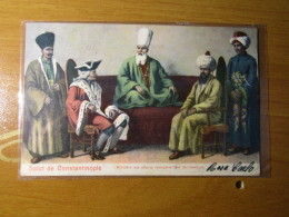 CARTOLINA TURCHIA  SALUT DE CONSTANTINOPLE 1909 ARRIVO MENAGGIO COMO    D - 2901 - Turchia
