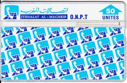 MOROCCO(L&G) - Patern Of ONPT Logos, O.N.P.T. Telecard 50 Units, CN : 504B, Used - Morocco