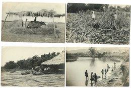 4x RPPC Philippines People Working Variety Lot USA Occupied Philippines Real Photo Postcards 1908-1923 - Philippines
