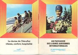 """07537 """"AU PASSAGER DES LIGNES AERIENNES INTERNATIONALES - AEROFLOT"""" OPUSCOLO ORIGINALE. - Pubblicità"""