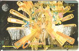 ANTIGUA & BARBUDA(GPT) - Carnival Is Mas, CN : 10CATB(Ll, Normal 0), Tirage %20000, Used - Antigua And Barbuda