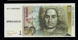 """Spielgeld """"50 DM"""" , Beids. Druck, 95 X 45 Mm,, UNC - Deutschland"""