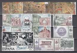 1980 - 1981  Lote De Series Completas Usadas - 1931-Hoy: 2ª República - ... Juan Carlos I