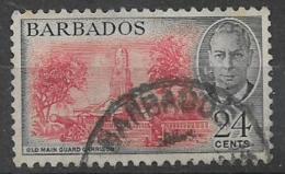 COLONIE INGLESI  BARBADOS 1950 SERIE ORDINARIA EFFIGE DI GIORGIO VI YVERT. 201 USATO VF - Barbados (...-1966)