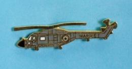 1 PIN'S //  ** HÉLICOPTÈRE / WESTLAND LYNX HAS / MARINE NATIONALE FRANÇAISE ** . (GF Groupe FIA) - Militaria