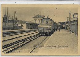 94 CHOISY-LE-ROI . La Nouvelle Gare , Arrivée Du Train électrique , édit : Sans  ,écrite En 1906 , état Extra - Choisy Le Roi