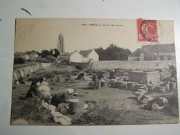 F2 BATZ Au Lavoir 1908 - Batz-sur-Mer (Bourg De B.)