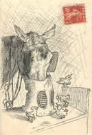 CPA CARTE PEINTE / Le Cheval Et Les Oiseaux - Cartoline